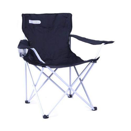 Spokey Krzesło rozkładane angler czarno-biały