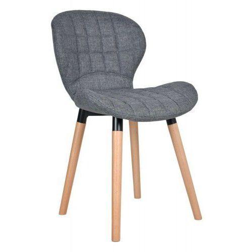 Krzesło Malmo - grafitowe, kolor szary