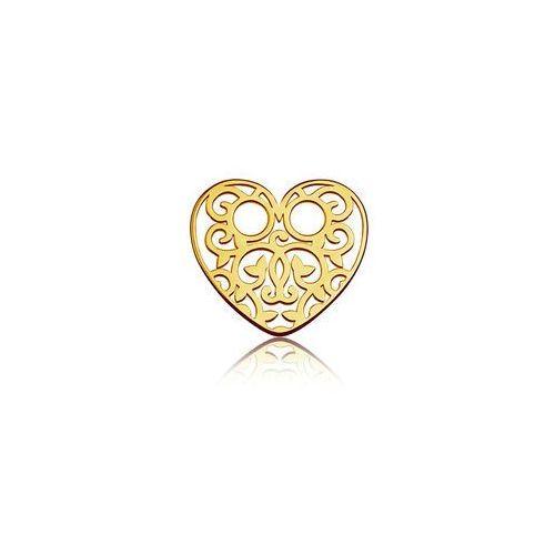 Blaszka Celebrytka Serce - ażurowa, złoto próba 585, BL 334-AU