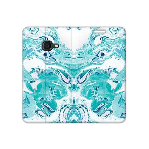 Samsung galaxy xcover 4s - etui na telefon flex book fantastic - niebieski marmur marki Etuo flex book fantastic