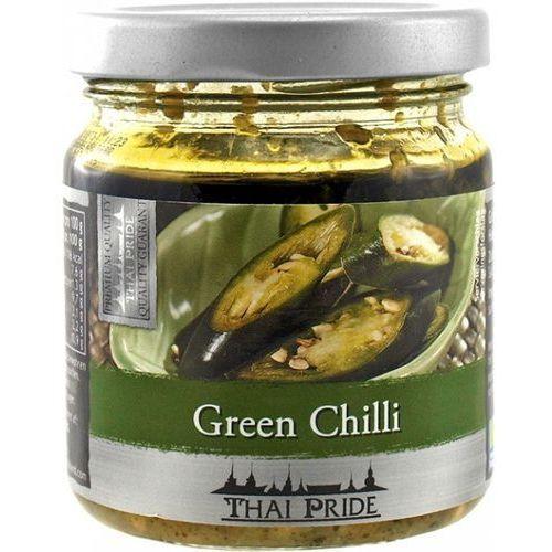 Zielone chili siekane w oleju sojowym 180g - Thai Pride (8853662023052)