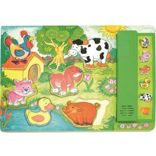 Woody puzzle muzyczne zielone - zwierzątka (8591864903238)