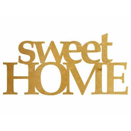 Congee.pl Dekoracja drewniana napis na ścianę sweet home - 3 mm