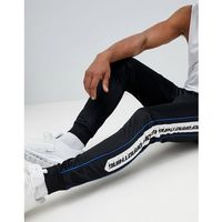 Good For Nothing skinny joggers in black with logo side stripe - Black, w 5 rozmiarach
