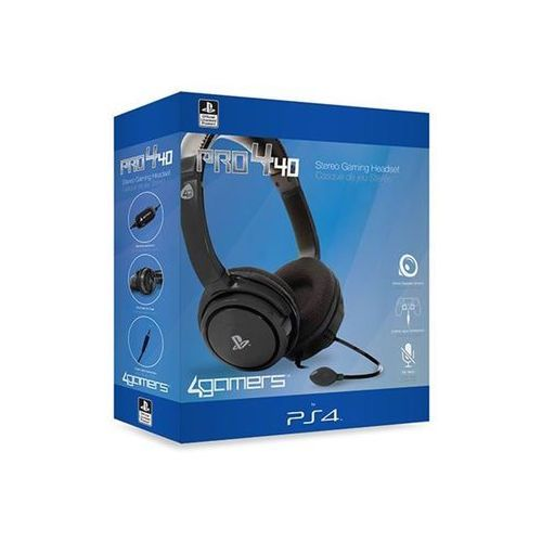4gamers pro4-40 stereo gaming headset for ps4 - black - zestaw słuchawkowy - sony playstation 4 (5055269705703)