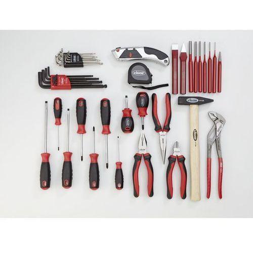 Zestaw narzędzi essential,zestaw narzędzi combi, 21-częściowy, luzem (bez wkładki) marki Vigor