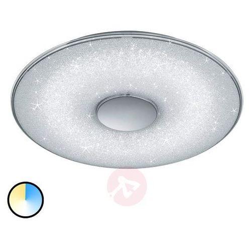 Plafon LAMPA sufitowa TOYAMA 628990100 Trio okrągła OPRAWA natynkowa LED 45W z efektem gwiazd biała, 628990100