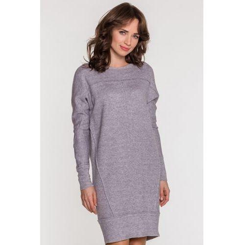 Dzianinowa sukienka o luźnym kroju - SU, 1 rozmiar