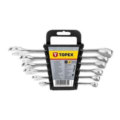 Topex Zestaw kluczy płasko-oczkowych 35d755 8 - 17 mm (6 elementów)