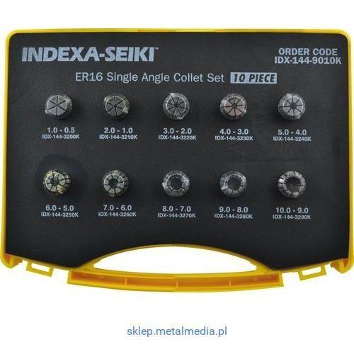 Zestaw tulejek zaciskowych ER16 1-10mm 9szt. Indexa IDX1449010K IDX-144-9010K, IDX1449010K