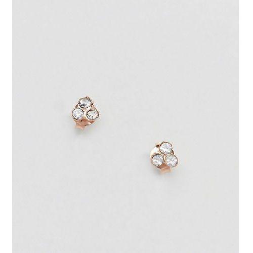rose gold plated rhinestone stud earrings - gold marki Kingsley ryan