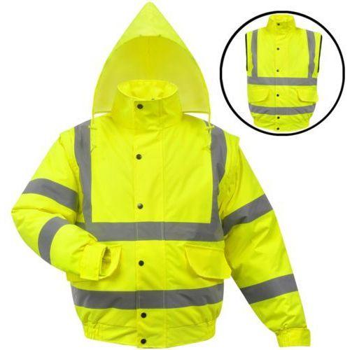 vidaXL Męska kurtka BHP odblaskowa żółta poliestrowa rozm. M ()