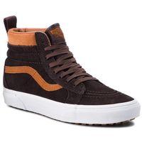 Sneakersy VANS - Sk8-Hi Mte VN0A33TXUCA (Mte) Suede/Chocolate Tor, kolor brązowy