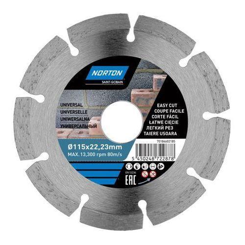Norton Tarcza diamentowa do cięcia uniwersalna 115 x 22 23 mm (5450248722878)