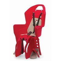 Fotelik rowerowy na bagażnik koolah rms - czerwono/kremowy marki Polisport
