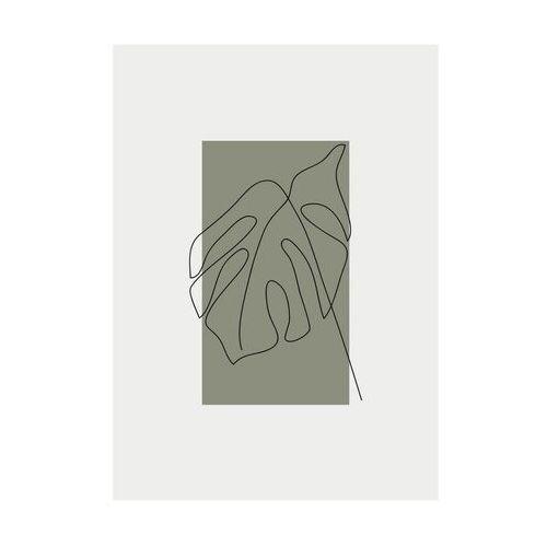Knor Kanwa liść na szarym tle 50 x 70 cm