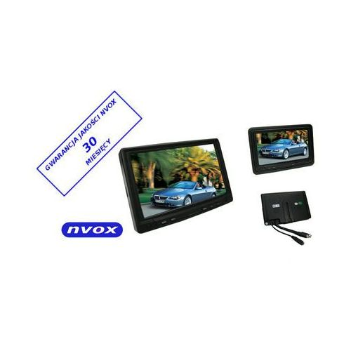 "Nvox mpc 718 monitor samochodowy lub wolnostojący lcd 7"" cali z ekranem dotykowym vga 12v 230v (5909182388942)"