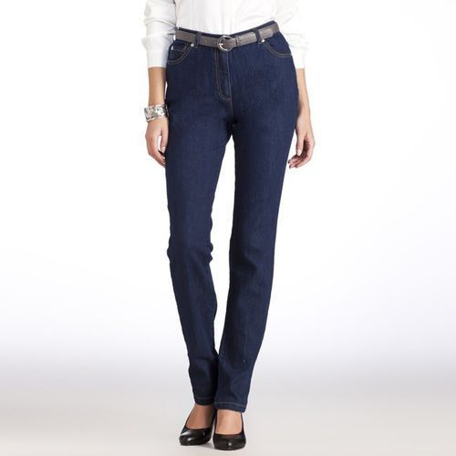 Jeansy denim stretch, krój prosty
