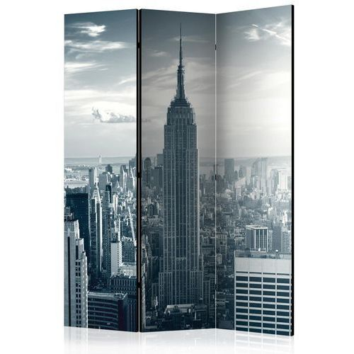 Artgeist Parawan 3-częściowy - widok na nowojorski manhattan o świcie [room dividers]