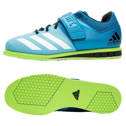Adidas powerlift 3 (unity blue/white/semi solar green) 42 2/3