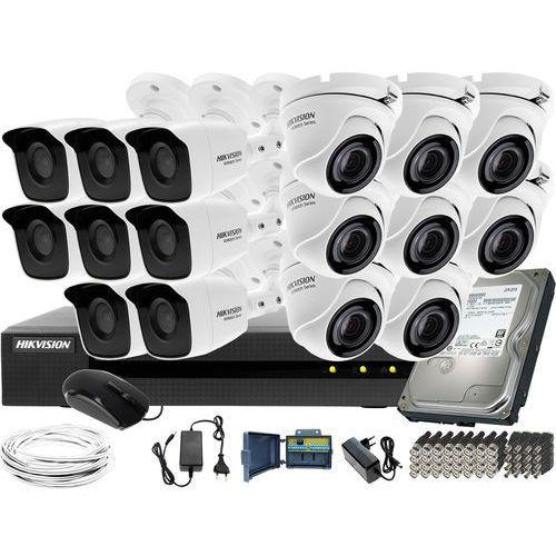Idealny zestaw do monitoringu szkoły boiska 8 kamer HWT-B140-M 8 kamer HWT-T140-M HWD-6116MH-G2 Dysk twardy 1TB Akcesoria, ZM11440