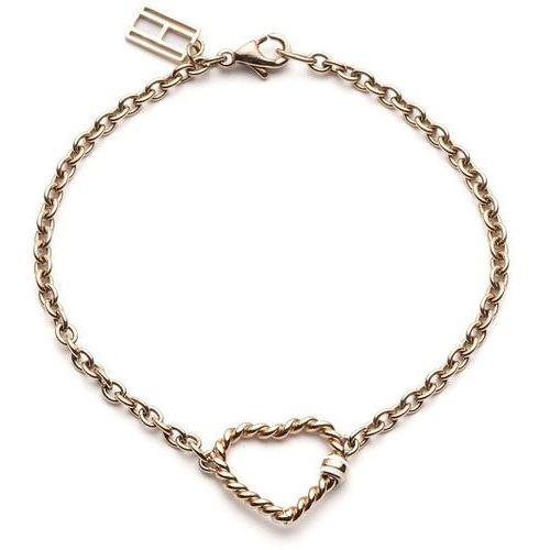 Tommy hilfiger bransoletka z sercem w kolorze różowego złota th2700535 (7613272133920)