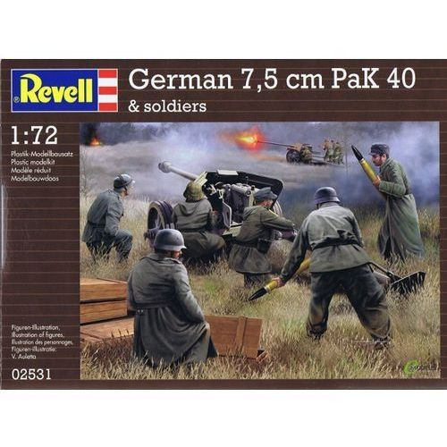REVELL German pak 40 with soldiers, MR-2531