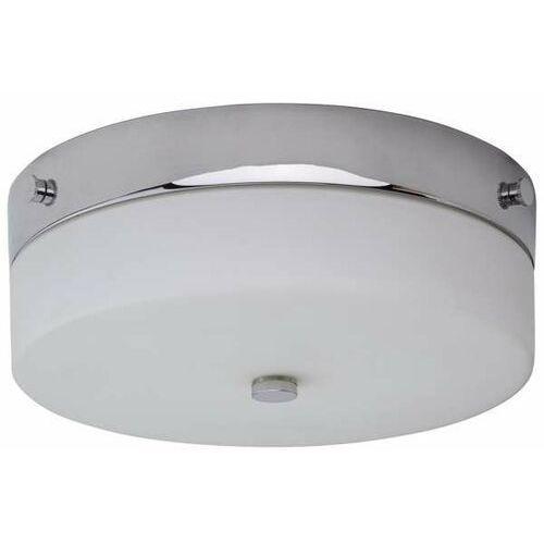 Łazienkowa lampa sufitowa tamar/f/m pc okrągła oprawa plafon szklany ip44 polerowany chrom biały marki Elstead
