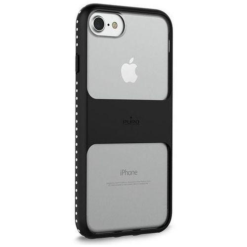 PURO Impact Pro Magnet Shield - Etui iPhone 8 / 7 / 6s / 6 kompatybilne z uchwytami magnetycznymi Puro (czarny) (8033830195426)