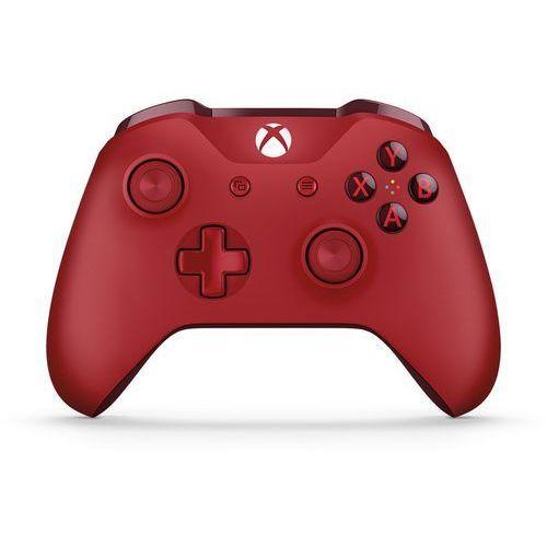 OKAZJA - Kontroler bezprzewodowy do konsoli xbox one (czerwony) marki Microsoft