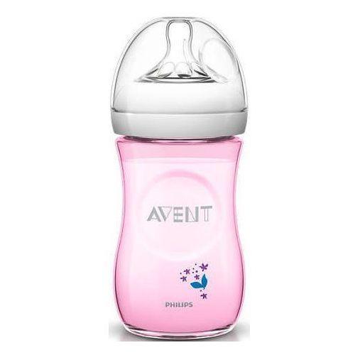 Butelka  dla niemowląt natural 260 ml - różowy marki Avent
