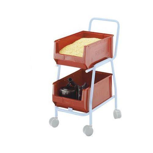Otwarty pojemnik magazynowy,do wózka dostawnego