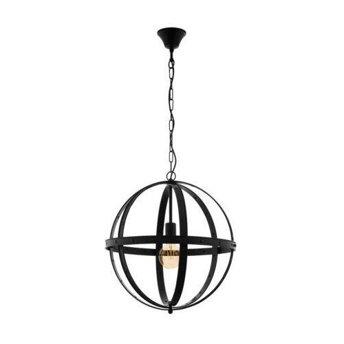 Lampa wisząca Eglo Barnaby 49516 zwis 1x60W E27 czarna