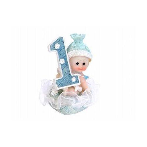 Twojestroje.pl Figurka chłopiec 1 urodziny niebieska 7cm 1szt (5901157439208)