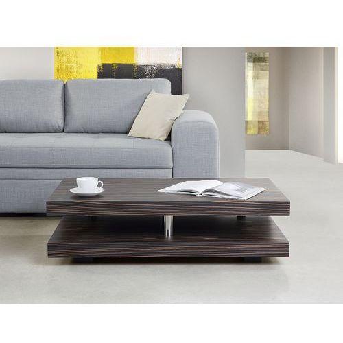 Stolik kawowy ciemnobrązowy - ława kawowa - stół - LAGOA (7081452658882)