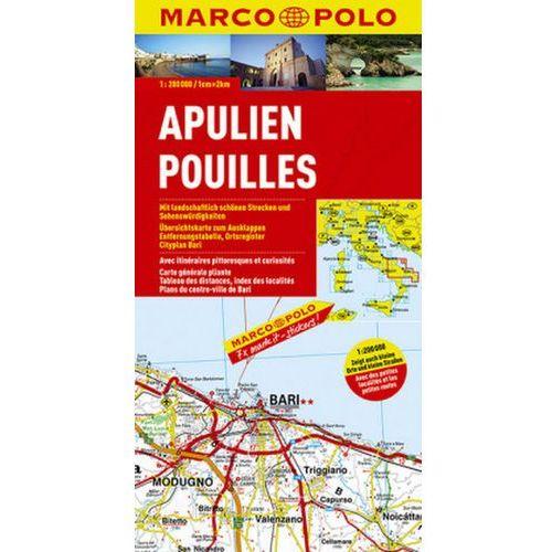 Marco Polo Karte Apulien. Pouilles / Puglia / Apulia