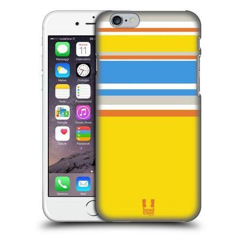 Etui plastikowe na telefon - Paski Żółte i Niebieskie, kolor niebieski