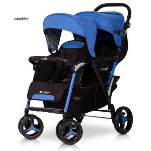 Wózek Bliźniaczy Spacerowy EasyGo Fusion Sapphire