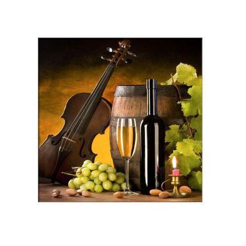 Styler Obraz na szkle wino 30 x 30 cm