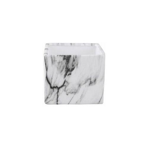 Osłonka na doniczkę 13 cm ceramiczna marmur marki Tajemniczy ogród