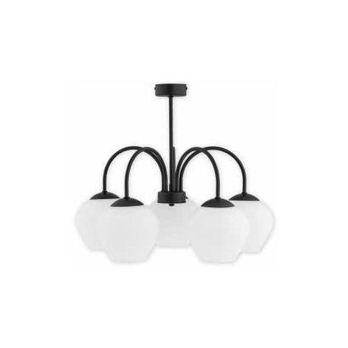 Lemir molto o2785 w5 cza plafon lampa sufitowa żyrandol 5x60w e27 czarny mat
