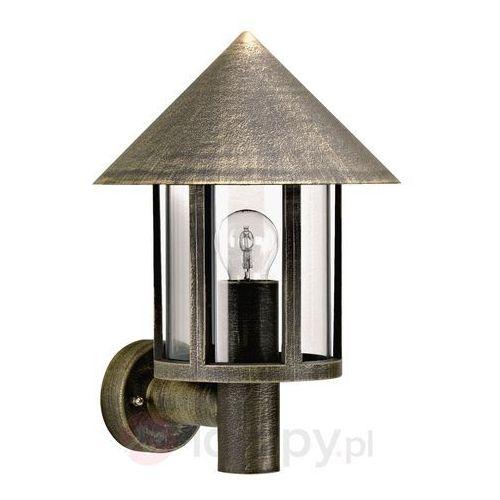 Lampa ścienna zewnętrzna Torcia brązowy mosiądz