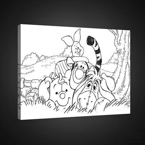 Obraz kubuś puchatek i przyjaciele - disney pkd1796o4 marki Consalnet
