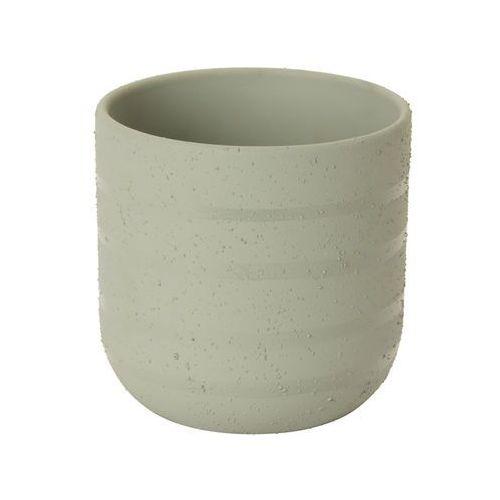 Doniczka ceramiczna C72 GoodHome ozdobna 12 cm szara
