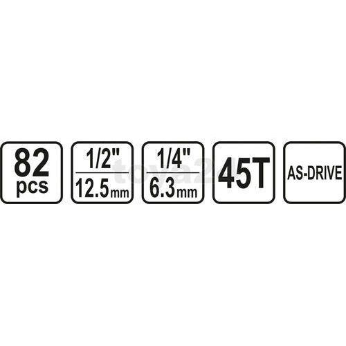"""ZESTAW NARZĘDZIOWY 1/2"""" 82CZ. L"""