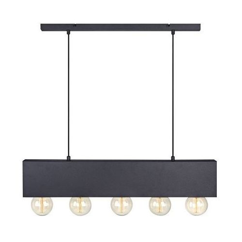 Lampa wisząca Couture 5 x 40 W E27 czarno-biała, 107037