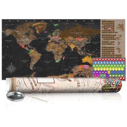 Mapa zdrapka - brązowa mapa - plakat (wersja angielska)