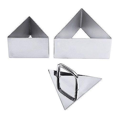 Contacto Ramka nierdzewna do musów 100x40 mm w kształcie trójkąta | , 681/100