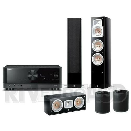 Yamaha MusicCast RX-V4A (czarny), NS-555, NS-C444, 2x MusicCast 20 WX-021 (czarny)