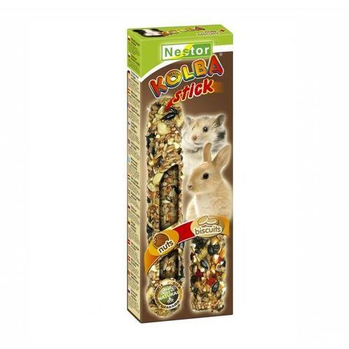 kolba 2 w 1 dla gryzoni i królików - biszkoptowa i orzechowa marki Nestor